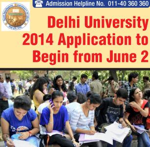 Delhi University 2014 Applications to Begin from June 2