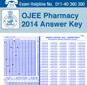 OJEE Pharmacy 2014 Answer Key