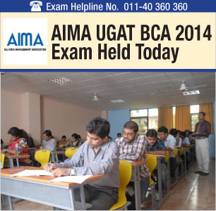 AIMA UGA BCA 2014: Online-Offline Exam Concludes on May 10