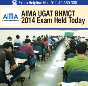 AIMA UGAT BHM 2014 Offline-Online Exam Conducted on May 10