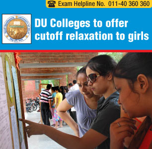 DU Colleges to offer cutoff relaxation to girls