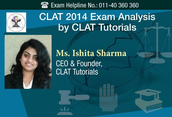 CLAT 2014 Exam Analysis by CLAT Tutorials
