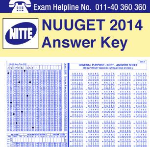 NUUGET 2014 Answer Key