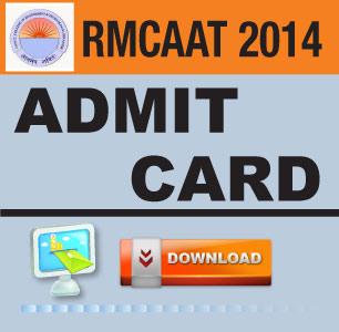 RMCAAT 2014 Admit Card