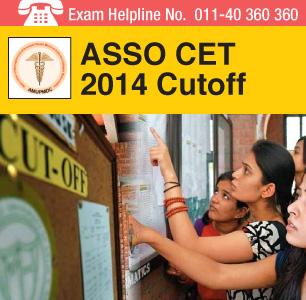 ASSO CET 2014 Cutoff