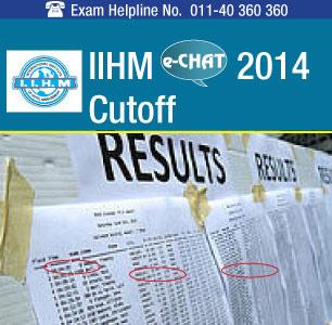 IIHM eCHAT 2014 Cutoff