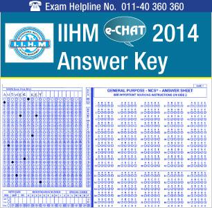 IIHM eCHAT 2014 Answer Key