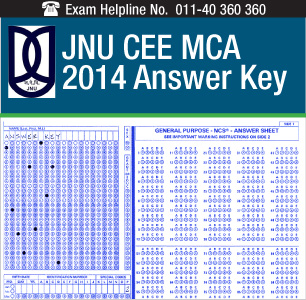 JNU CEE MCA 2014 Answer Key
