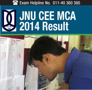 JNU CEE MCA 2014 Result