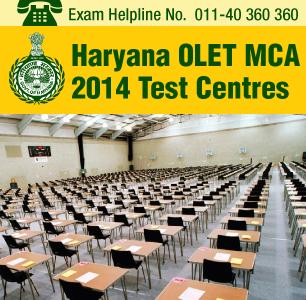 Haryana OLET MCA 2014 Test Centres