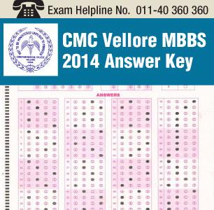 CMC Vellore MBBS 2014 Answer Key