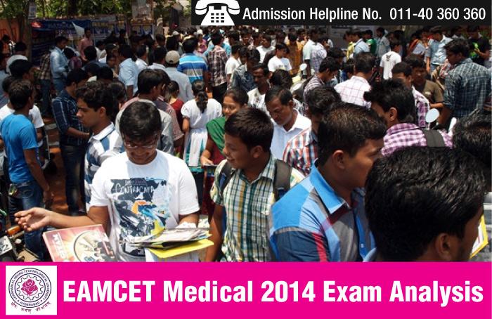 EAMCET Medical 2014 Exam analysis