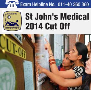 St. John's MBBS Entrance Exam 2014 Cutoff