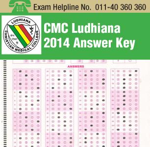 CMC Ludhiana 2014 Answer Key