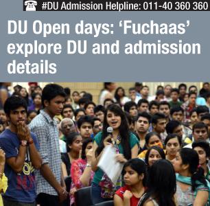 DU Open Days: 'Fuchaas' explore DU and admission details