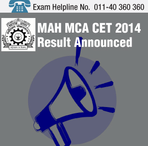 DTE Declares the MAH MCA CET 2014 Result
