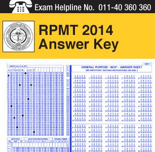RPMT 2014 Answer Key