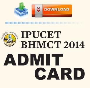 IPU CET BHMCT 2014 Admit Card