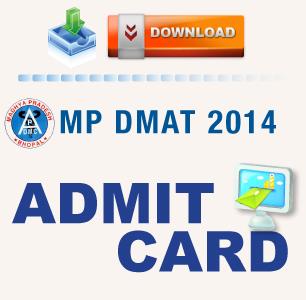 MP DMAT 2014 Admit Card