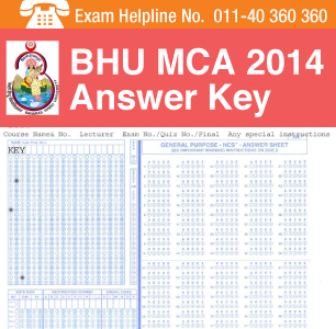BHU MCA 2014 Answer Key