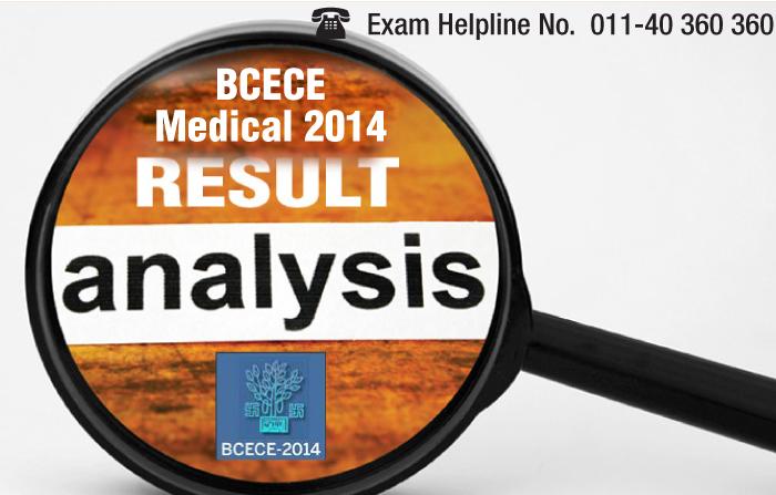 BCECE Medical 2014 Result Analysis