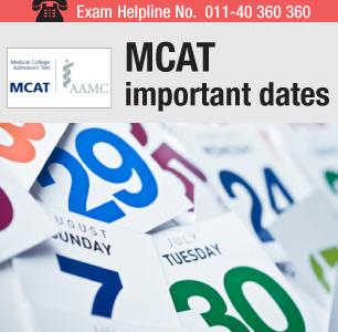 MCAT 2017 dates