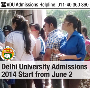 Delhi University Admissions 2014 Start from June 2
