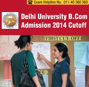 Delhi University Admission 2014 B.Com Cutoff