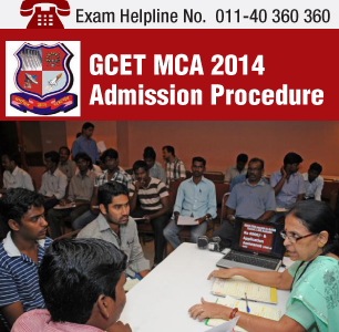 GCET MCA 2014 Admission Procedure