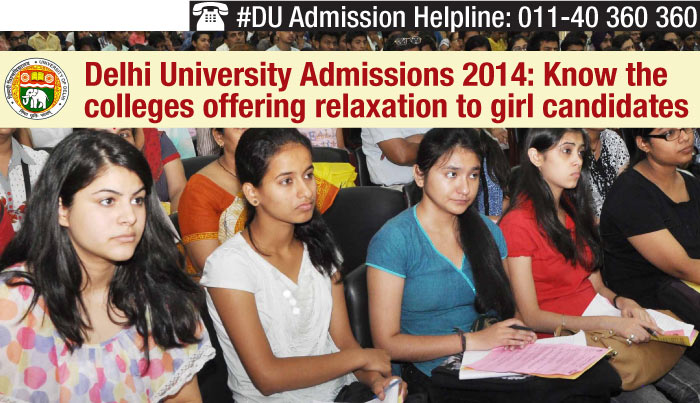 Delhi University Admissions 2014: Know the colleges offering relaxation to girl candidates
