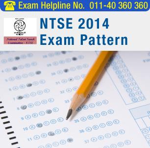 NTSE 2015 Exam Pattern