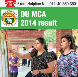 DU MCA 2014 Result