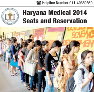 Haryana Medical 2014 Seats and Reservation