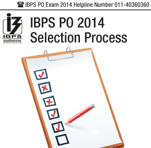 IBPS PO 2014 Selection Process