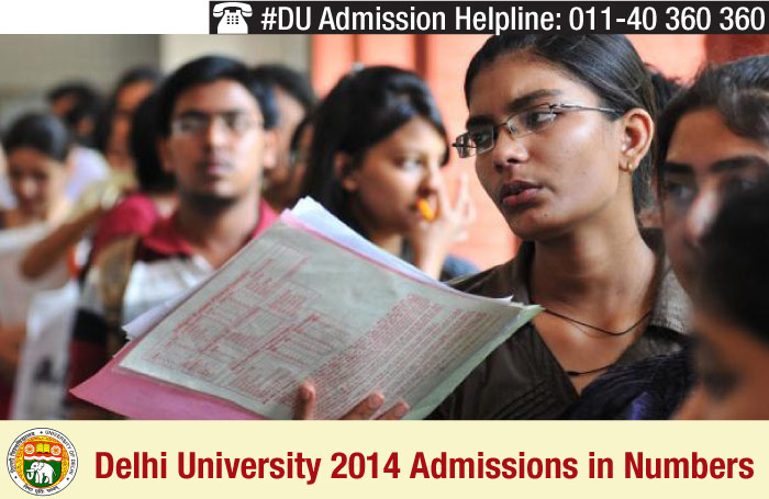 Delhi University 2014 Admissions in Numbers