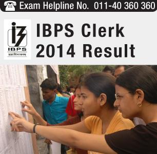 IBPS Clerk 2014 Result
