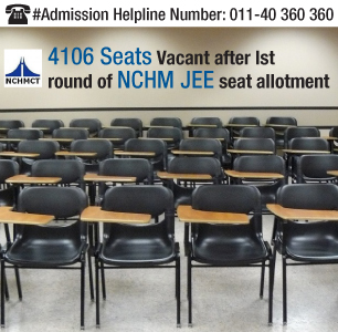 NCHM JEE Seat Allotment Round 1 Concludes; 4106 Seats Vacant