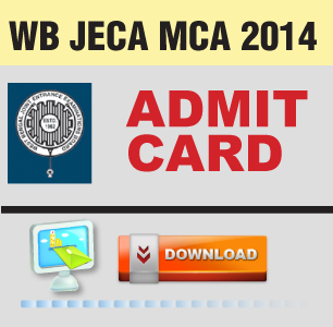 WB JECA MCA 2014 Admit Card