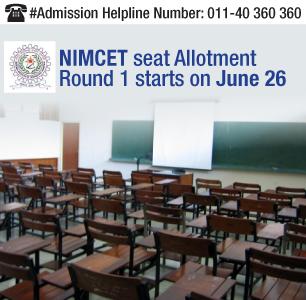 NIMCET 2014 Seat Allotment Round 1 starts on June 26