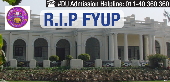 DU scraps FYUP; asks colleges to expedite admissions