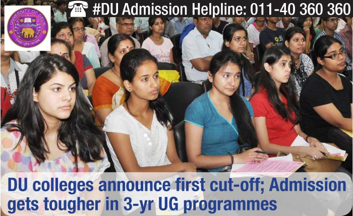 DU colleges announce first cutoff; Admission gets tougher in 3-yr UG programmes