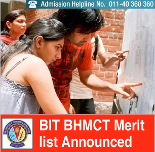 BIT BHMCT 2014 Merit List declared; Admission Procedure to end on July 9