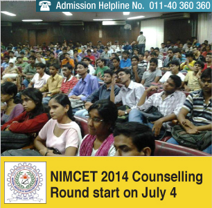 NIMCET 2014 Counselling Round 2 begins on July 4