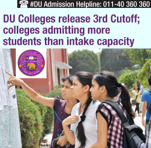 DU Colleges release 3rd Cutoff; many colleges surpass intake capacity