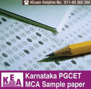 Karnataka PGCET MCA 2014 Sample Paper