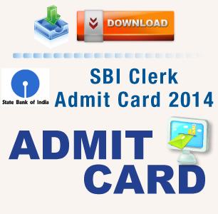 SBI Clerk 2014 Admit Card released- Download here