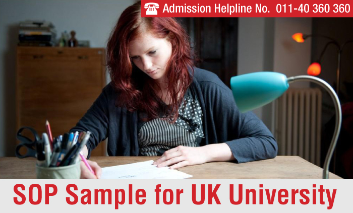 SOP Sample for UK University