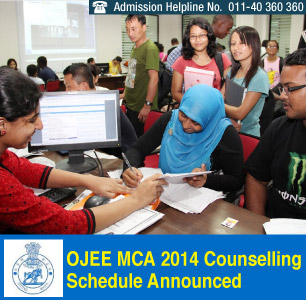 OJEE MCA 2014 Counselling Schedule Announced
