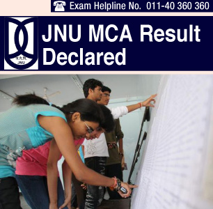 JNU CEE MCA 2014 Result Announced