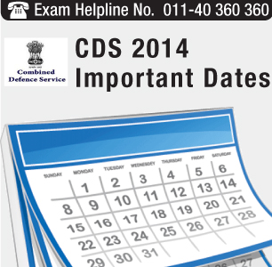 CDS II 2014 Important Dates